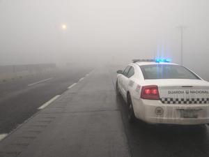 Reporta Guardia Nacional cierre de la autopista Saltillo-Monterrey por condiciones climáticas