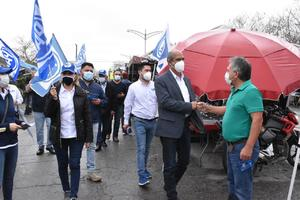 Candidato panista a la alcaldía de Monclova recibe ánimo de comerciantes