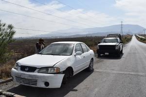 Hallan vehículo desmantelado en Monclova