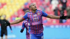 Rondón celebra con un gol su elección como mejor jugador del CSKA en marzo