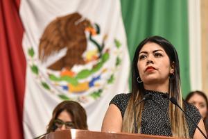 América Rangel acusa a Morena de vandalizar su propaganda