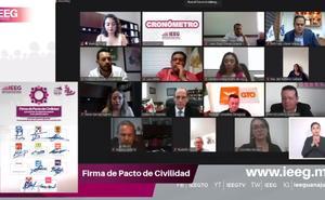 Sin Morena, firman 'Pacto de Civilidad' electoral en Guanajuato
