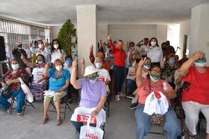 Seguridad y apoyo a los adultos mayores promete Lupita Murguía en Monclova