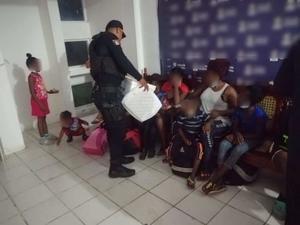 Rescatan a 149 migrantes en sur de Veracruz