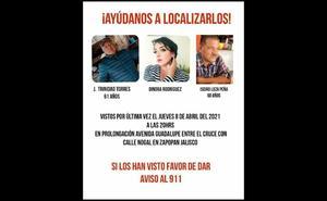 Desaparecen siete personas en Zapopan, Jalisco