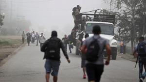 Presuntos polleros atacan a balazos unidad del INM en Chiapas