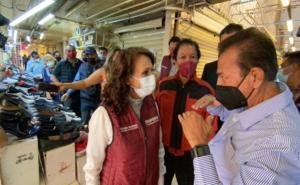 Piden comerciantes de Tepito infraestructura a Dolores Padierna