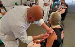 Sánchez Cordero recibe segunda dosis de vacuna antiCovid
