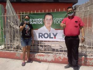 Intensifica Roly actividades de campaña en los sectores