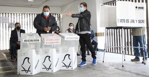 INE realiza simulacro de votación bajo medidas sanitarias por COVID-19