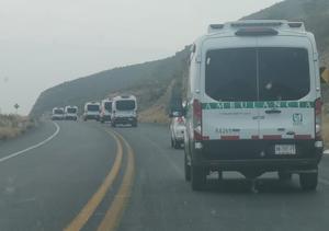Caravana deambulancias recorre la carretera 30 de Coahuila