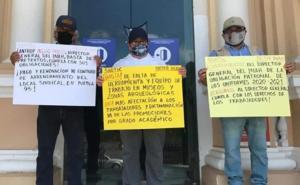 Protestan trabajadores del INAH en Yucatán; piden apoyos para laborar