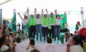 El Verde se comprometen a servicio de agua potable en Iztapalapa