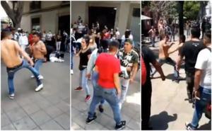 VIDEO: Captan riña campal en el Centro Histórico de la CDMX