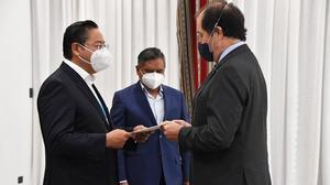 Siete embajadores presentan cartas credenciales ante el Gobierno boliviano