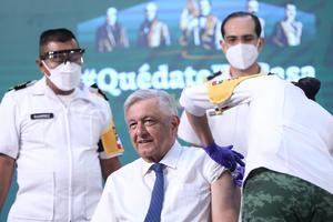 AMLO: 'Me fue bien tras aplicarme primera dosis de vacuna contra COVID-19'