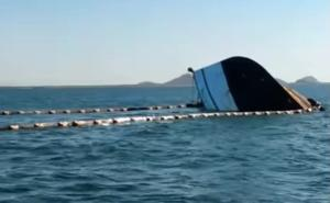 Ferry choca y hunde un barco camaronero en Topolobampo