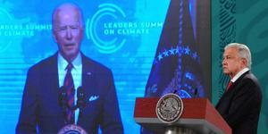 AMLO: Inicia mañanera con transmisión de Cumbre de Líderes Climáticos