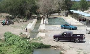 Sin agua paraje natural las 'pompas'