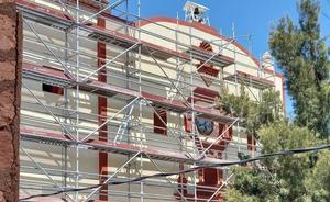Minera San Xavier restaura templo de la Santa Cruz