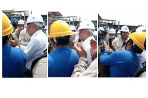 '¡Ayúdenos, de corazón!', piden trabajadores en refinería a AMLO