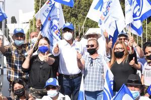 Invita candidato Mario Dávila a equilibrar cámara de diputados