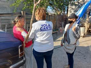 Promete Yolanda Cantú, agua y drenaje en Cuatro Ciénegas