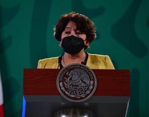 Delfina Gómez: Se ha vacunado contra COVID-19 a 488 mil personas del sector educativo