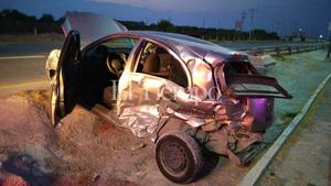 Se registra fuerte accidente en la carretera 57 de Monclova