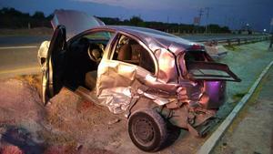 Fuerte accidente en la carretera 57 de Monclova