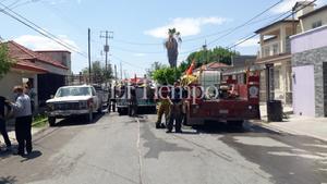Se incendia casa en la Guadalupe en Monclova