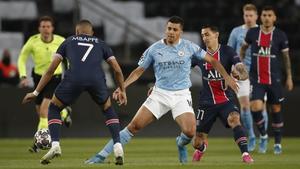 1-0 El PSG está ganando al Manchester City