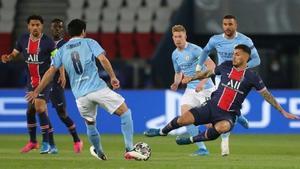 1-2 Un gran Manchester City remonta al PSG en Paris