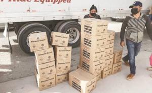 Vinculan a proceso a chofer de camión cargado con despensas en SLP