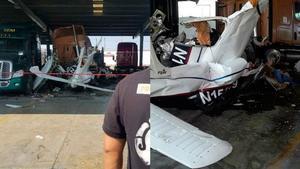 Se registra caída de avioneta en Ciénega Flores, Nuevo León