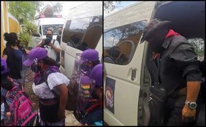 Rumbo a Europa, Escuadrón 421 del EZLN llega a Mérida, Yucatán