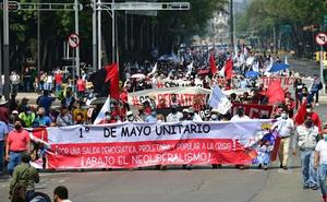 Sindicatos independientes realizan marcha