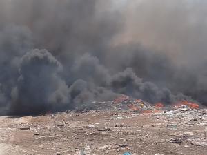 Nuevamente arde el relleno sanitario de Frontera por efecto lupa