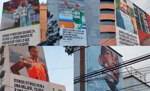 Crean murales de Messi, Pogba, Charlyn Corral y otros atletas en CDMX
