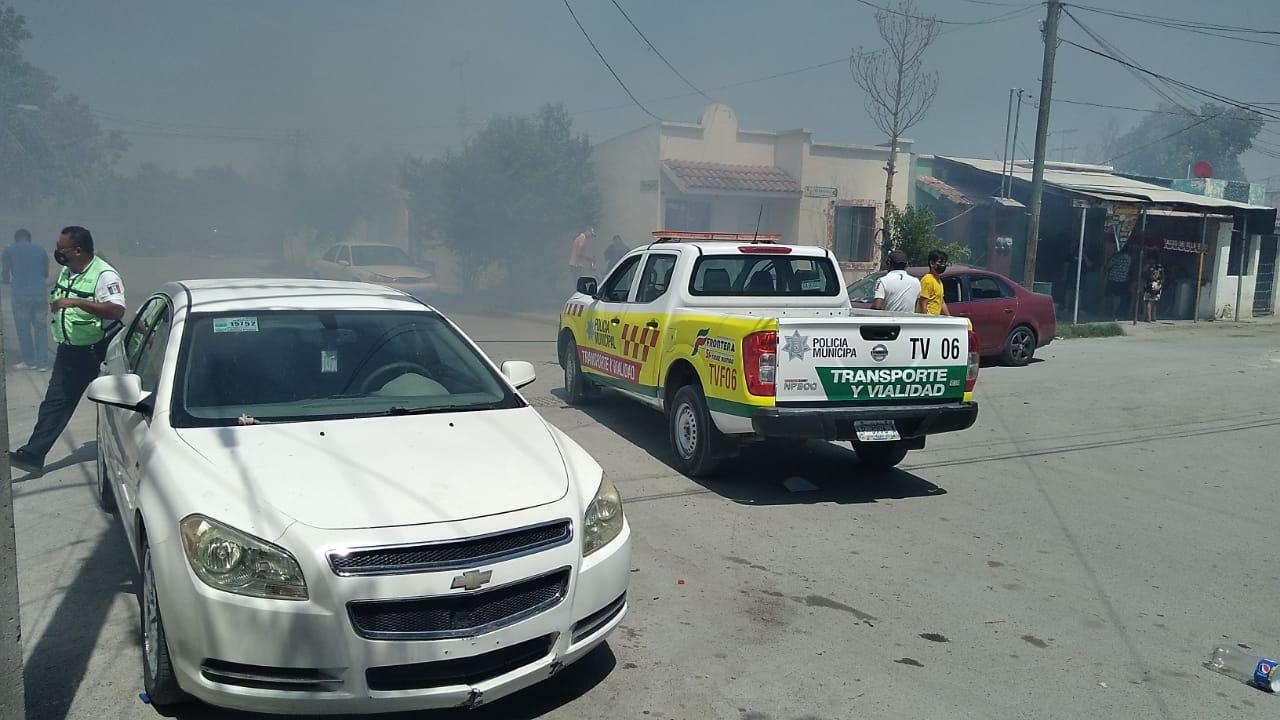 Fuerte incendio en el Huizachal