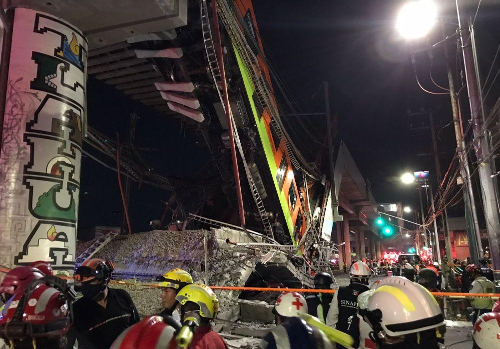 23 muertos y 65 hospitalizados tras colapsar el metro en CDMX
