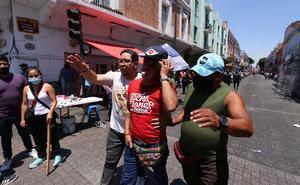 VIDEO: protagonizan batalla campal en Centro Histórico de Puebla