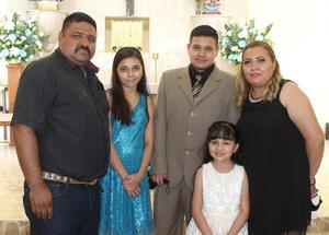 Luis Javier celebra XV años
