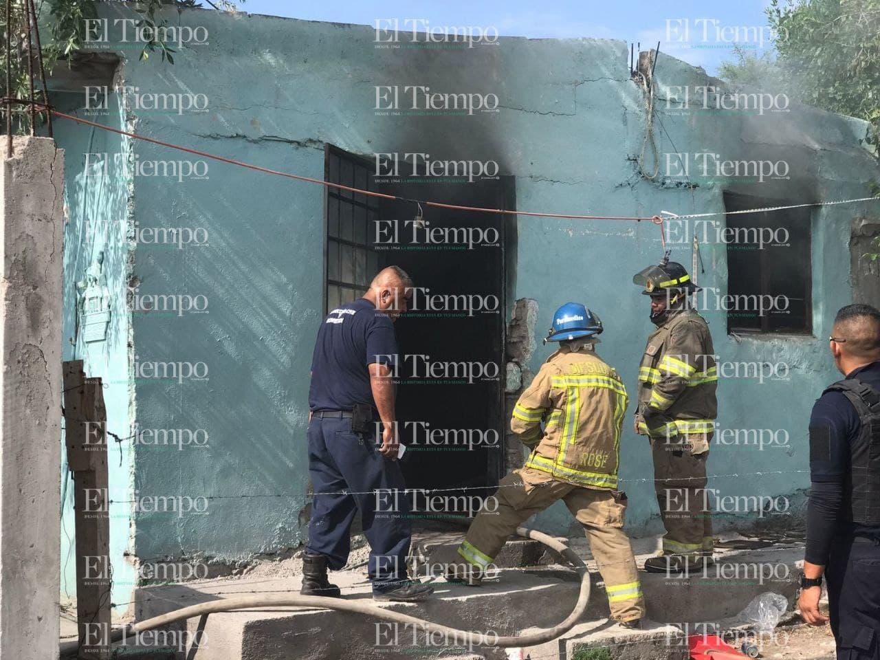 Se incendia casa habitación en la avenida Las Torres en Monclova