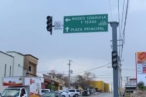 Lluvias afectaron semáforos en Monclova