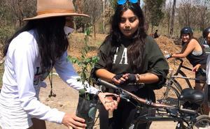 Ciclistas de CDMX y Edomex reforestan Parque Nacional de Los Remedios
