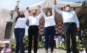 Candidato de Morena a la alcaldía de ÁO realiza cierre de campaña
