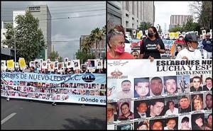 Marchan por búsqueda y justicia para desaparecidos en Nuevo León