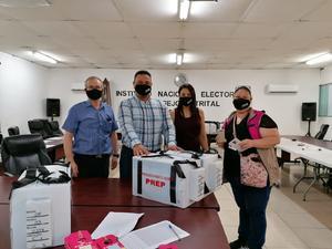 Inicia INE de Monclova reparto de paquetes electorales en distrito 03