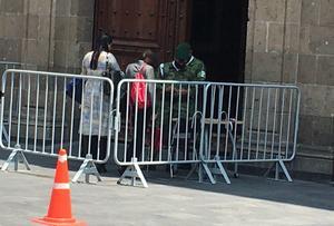 Incrementan medidas de seguridad en Palacio Nacional